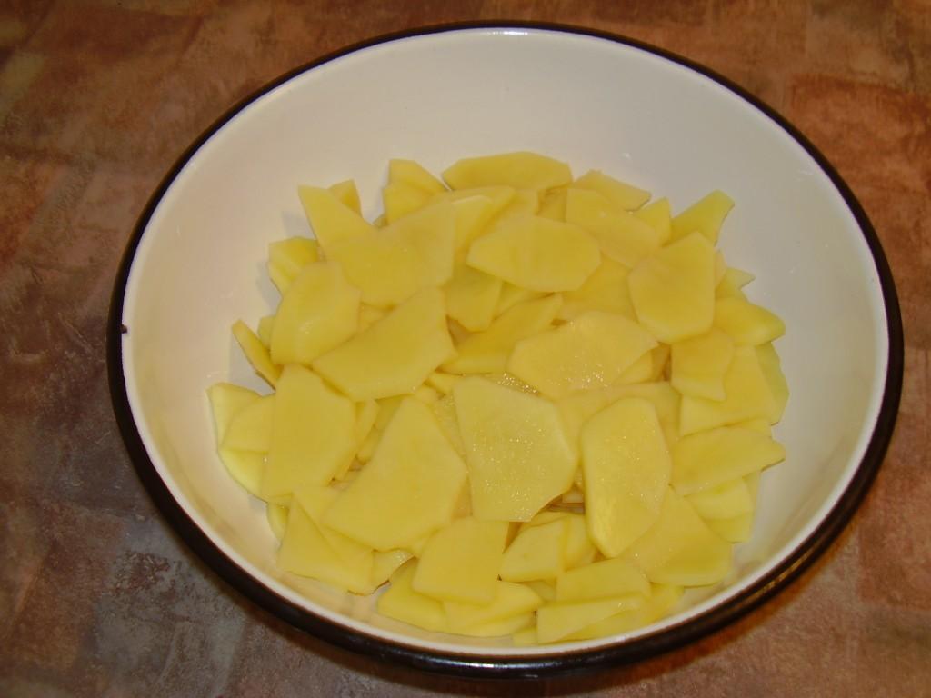 картофель запеченный с грибами 1