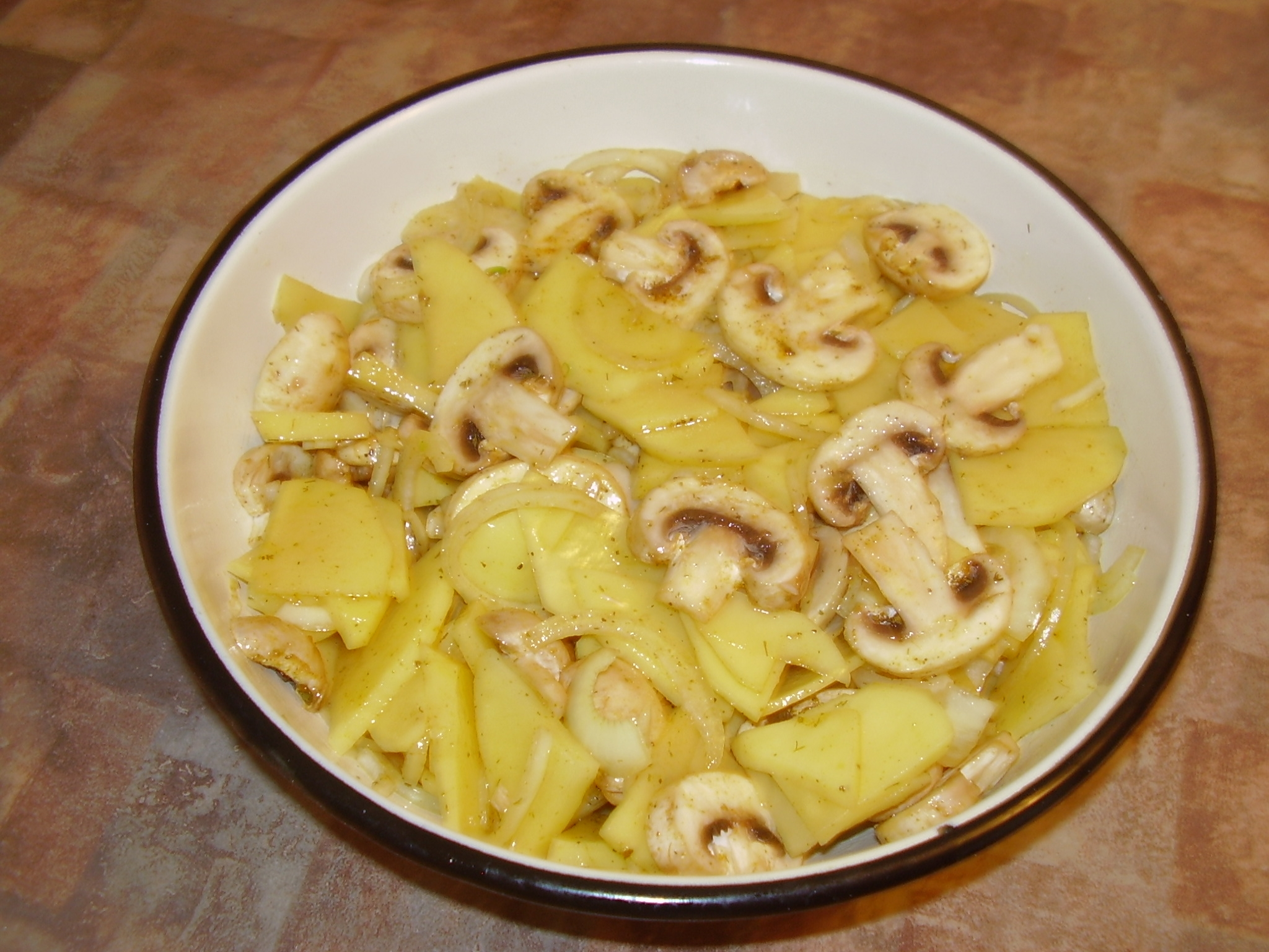 Картошка с грибами с сыром в духовке рецепт пошагово в