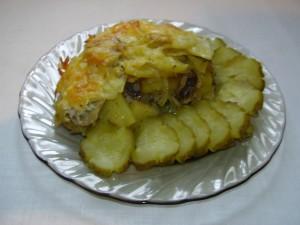 картофель запеченный с грибами 8