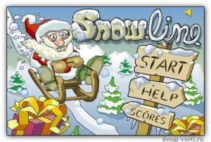 """Новогодняя игра для детей и взрослых """"Snowline"""""""