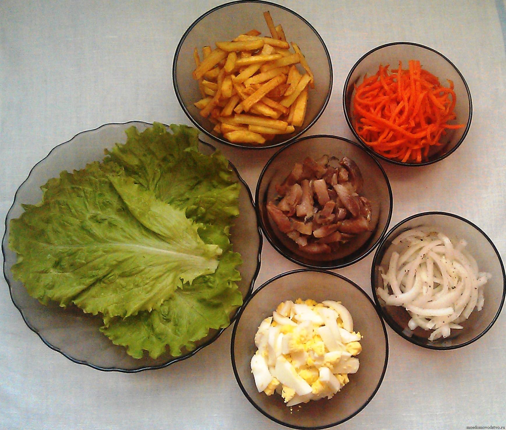 Рецепт салата грибов с клюквой