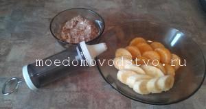 бананы с творожным кремом