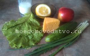 салат с яблоком и огурцом